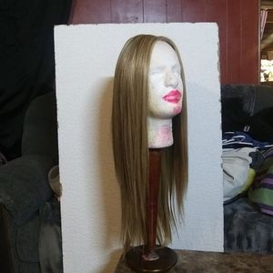 Monofilament lace front wig